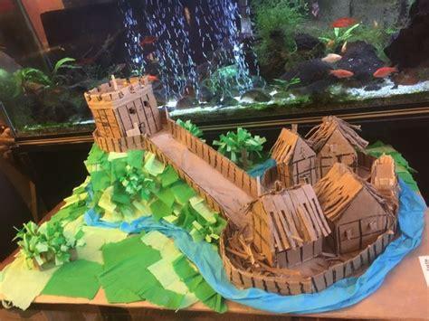 motte  bailey castle miniature terrain motte