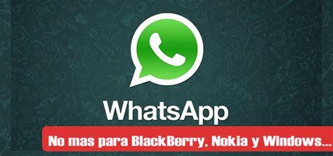 whatsapp ya no estar 225 disponible para blackberry fuera de aqui