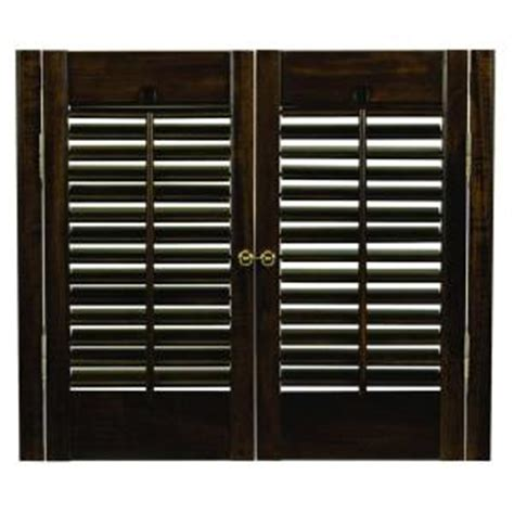wooden shutters interior home depot homebasics traditional real wood walnut interior shutter price varies by size qstd2328 the