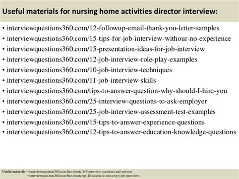 top 10 nursing home activities director