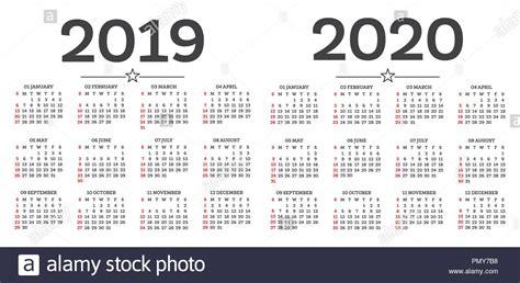 calendar isolated white background week starts