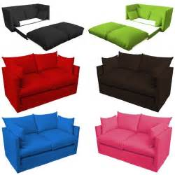 sofa für jugendzimmer ausklappbar kinder schlafsofa zweisitzer versch farben kindercouch