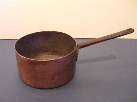 antique small copper pot  handle  sale antiquescom classifieds