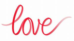 Word love written red on white Motion Background