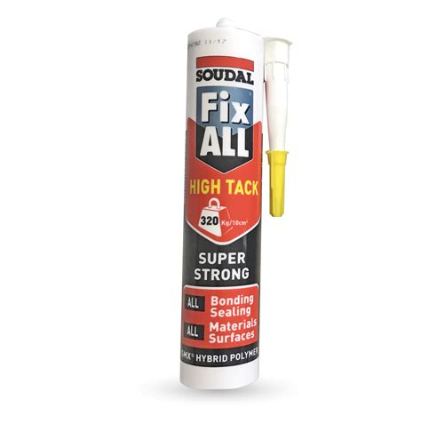 soudal fix all soudal fix all high tack plastic building supplies