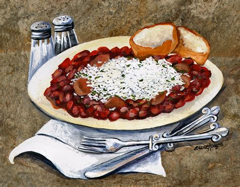 Louisiana Red Beans And Rice Painting By Elaine Hodges