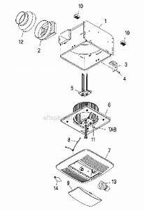 Broan Qt140le Parts List And Diagram   Ereplacementparts Com