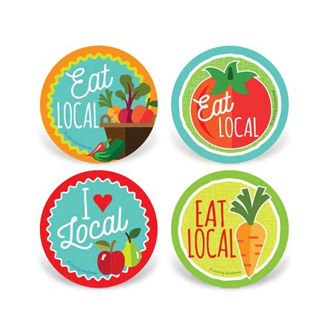 stickers protection cuisine eat local stickers locally grown foods stickers