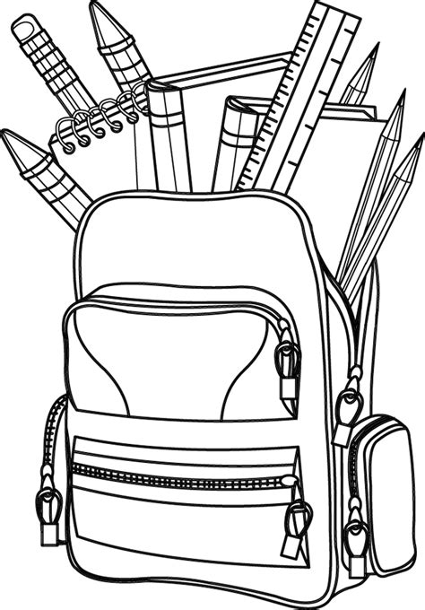 coloriage  imprimer  cartable doryfr coloriages