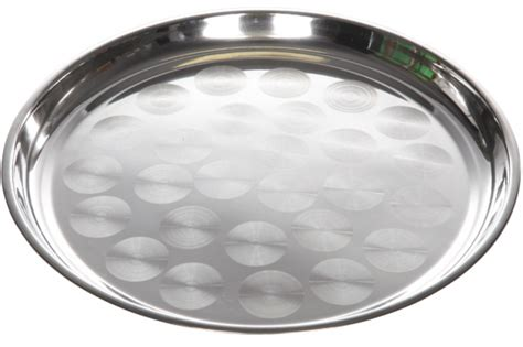 rond plateau inox rond pour buffet 45cm mons event location Inox