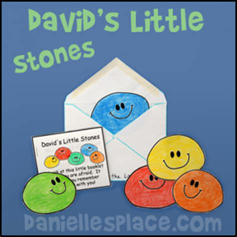 bible themes david 895 | davids little stones bible craft
