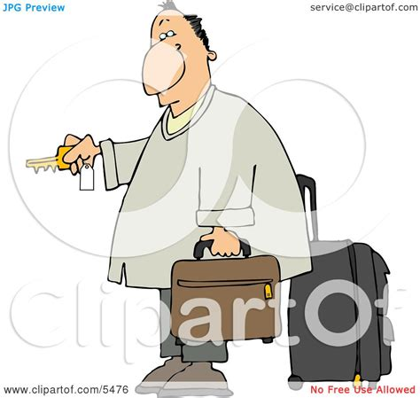 hotel clipart weary traveler businessman checking into a hotel clipart