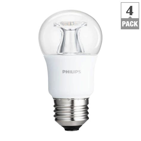 philips 40w equivalent soft white clear multipurpose a15 dimmable led with warm glow light
