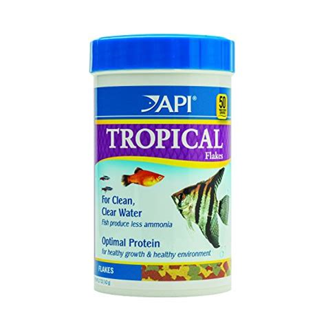 api cuisine api tropical flakes fish food 5 7 ounce container import