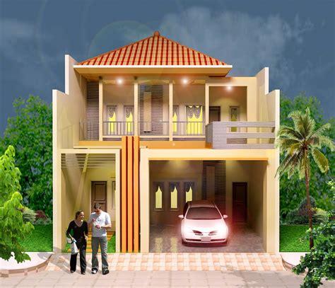 denah rumah minimalis  lantai top  gambar desain rumah