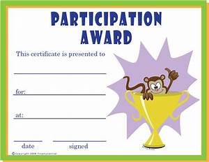 Certificate Of Participation Template Free Downloadable Certificates