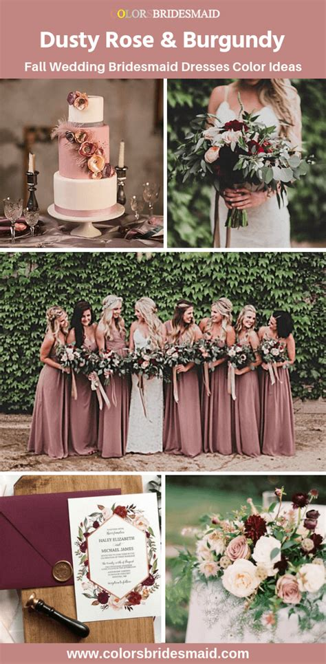 All 20+ Dusty Rose Wedding Color Palettes Fall wedding