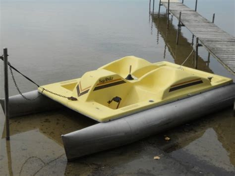 4 Person Pontoon Boat by Sea 612b Paddle Boat 4 Person Aluminum Pontoons
