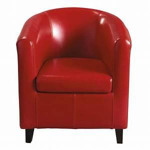 Fauteuil Club Cuir Maison Du Monde : fauteuil club rouge nantucket maisons du monde ~ Teatrodelosmanantiales.com Idées de Décoration