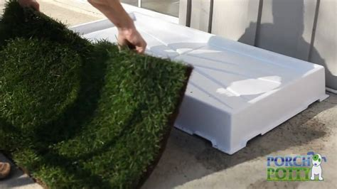 using grass with the porch potty potty