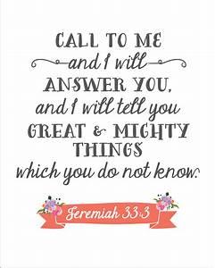 Jeremiah 33:3 Printable