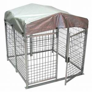 4 ft x 4 ft x 4 ft folding quick dog kennel qkf444 With outside dog kennels home depot