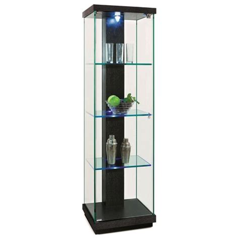 glass curio cabinet with lights marcel lighted display curio hardwood glass dcg stores