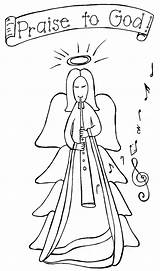 Angel Coloring Christmas Pages Angels Bookmark Read Sheets Colors Print Url Title Adults Teamcolors Rocks Popular sketch template
