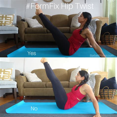 Form Fix The Hip Twist  Barbell Pilates With Trish Dacosta