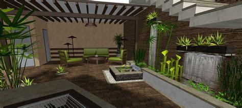 Diseño De Un Hermoso Jardín Pequeño De Estilo Oriental
