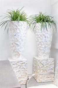 Pflanzkübel Weiß Rattan : coastline perlmutt wei fiberglas dekos ule palmenmarkt ~ Indierocktalk.com Haus und Dekorationen