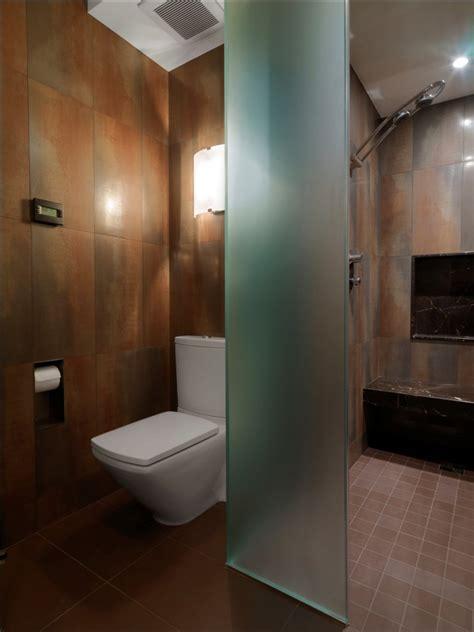 glass wall dividers bathroom glamor  modern style