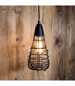 Suspension Ampoule Vintage : suspension vintage cage ferm e pour ampoule filament edison st58 ~ Teatrodelosmanantiales.com Idées de Décoration