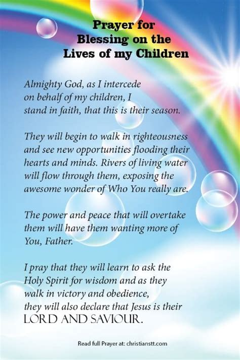 prayer blessings upon the lives of my children 393 | blessings on the lives children pin 1