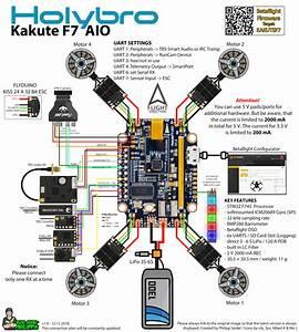 Holybro Kakute F7 Aio Flight Controller Anschlussplan