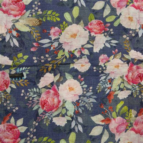 LouLou Lollipop Floral Print Baby Quilt Swaddle in Blue ...
