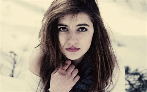 Beautiful Girl Face Portrait