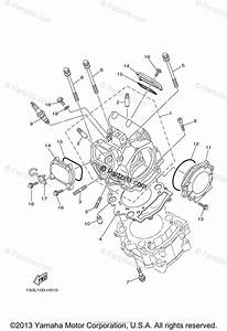 Yamaha Atv 2009 Oem Parts Diagram For Cylinder Head