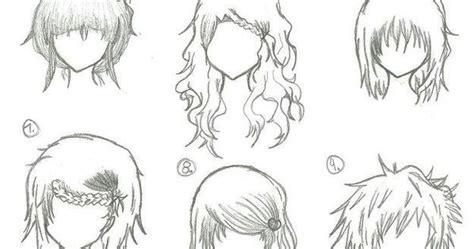 hairstyles anime manga drawing art bun curly