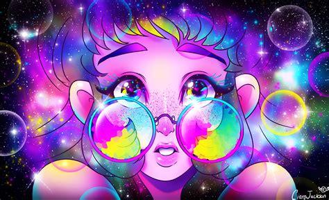 Beautiful Galaxy Glasses Art Credit To