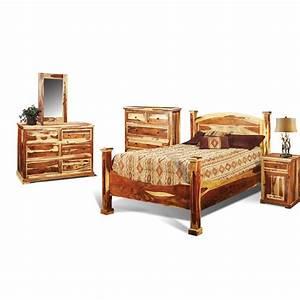 Tahoe pine rustic 6 piece king bedroom set for Bedroom furniture sets tyler tx