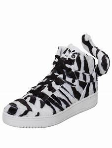 Jeremy scott for adidas Zebra High Top Sneakers Black ...