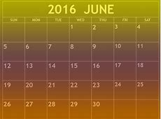 June 2016 calendar printable Download 2019 Calendar