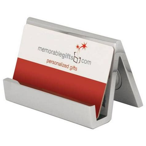 desk business card holder personalized silver desk clock with business card holder