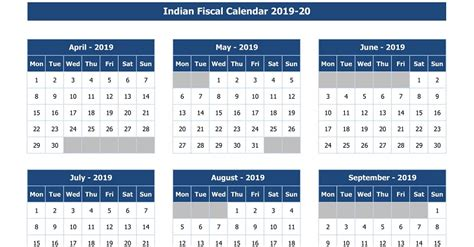 indian fiscal calendar excel template exceldatapro