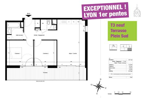 appartement avec 2 chambres vente appartement t3 neuf lyon 1 pentes croix rousse avec