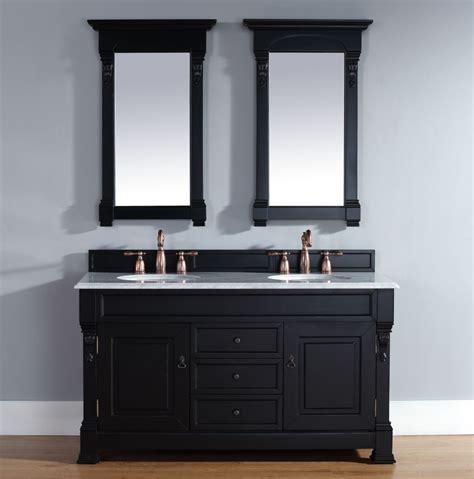 60 Inch Double Sink Bathroom Vanity in Antique Black