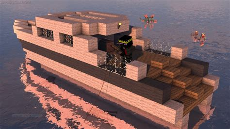 How To Build A Boat In Minecraft Easy by How To Make A Moving Boat In Minecraft No Mods
