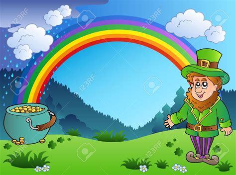cute patricks leprechaun rainbow clipart clipartfest snowjetco