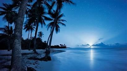 Night Sky Beach Wallpapers Starry Ocean Sea